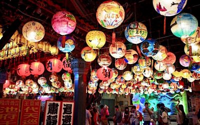 Multicultural Family Celebrates Chinese New Year Lantern Festival