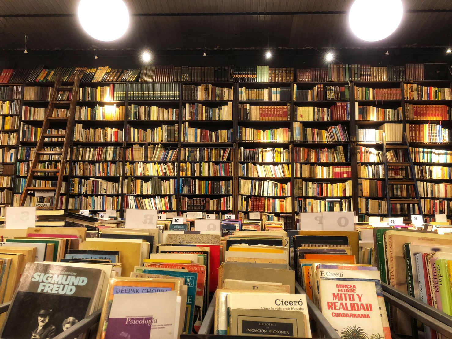 Second-hand bookshop in Barcelona